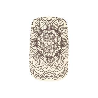 手描きの落書きの芸術の曼荼羅のMinxのネイルアート ネイルアート
