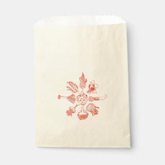 手描きの野菜のプリント フェイバーバッグ