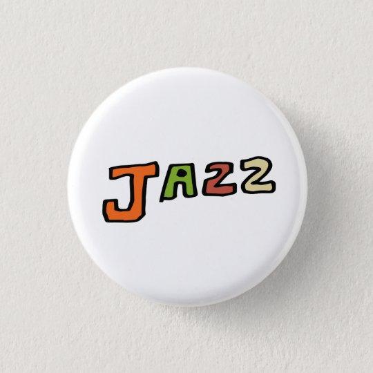 """手描き文字""""ジャズ"""" 3.2CM 丸型バッジ"""