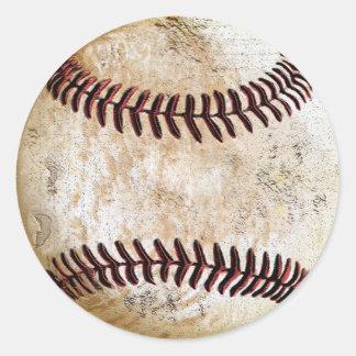 手書きのためのヴィンテージの野球のステッカー ラウンドシール
