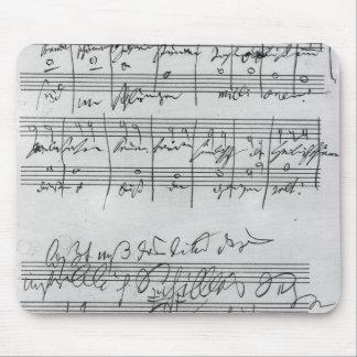 手書きの楽譜 マウスパッド