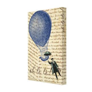 手書きの浮遊人の熱気の気球 キャンバスプリント