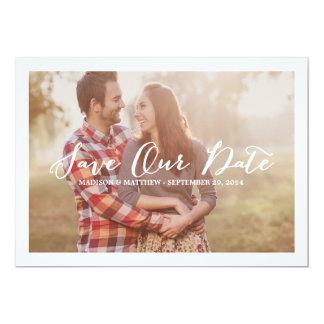手書き愛|セーブ・ザ・デート案内 カード