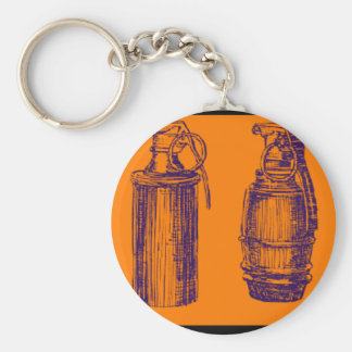 手榴弾のオレンジ キーホルダー