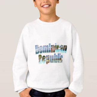 手紙のドミニカ共和国の観光客の視力 スウェットシャツ