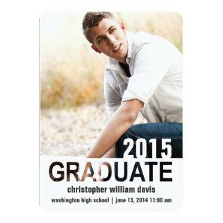 手紙の排気切替器の写真の卒業の発表 カード