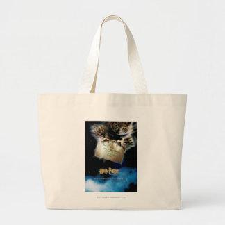 手紙の映画のポスターを持つフクロウ ラージトートバッグ