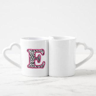 """手紙""""E""""のマグ ペアカップ"""