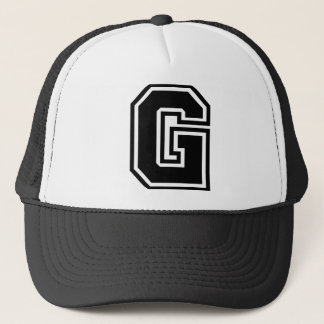 """手紙""""G""""のモノグラム キャップ"""