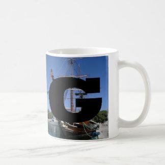 手紙- G - Galleon コーヒーマグカップ