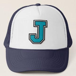 """手紙""""J""""のモノグラム キャップ"""