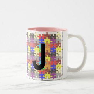 手紙- J -ジグソーパズル ツートーンマグカップ
