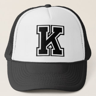 """手紙""""K""""のモノグラム キャップ"""
