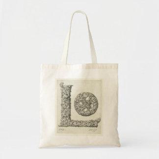 手紙「L」モノグラムの予算の戦闘状況表示板 トートバッグ