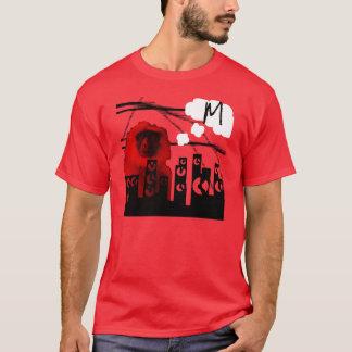 """手紙""""M """"熟考している猿 Tシャツ"""