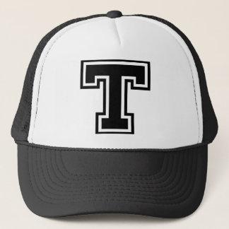 """手紙""""T""""のモノグラム キャップ"""