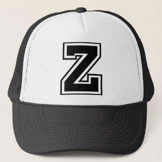 """手紙""""Z""""のモノグラム キャップ"""