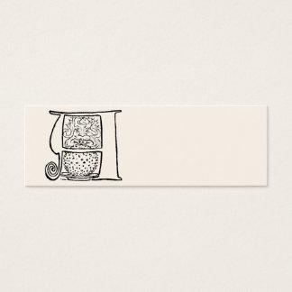 手紙Aのヴィンテージのイラストレーション スキニー名刺