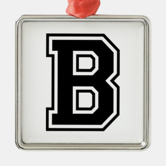 手紙Bの大学のアルファベット メタルオーナメント