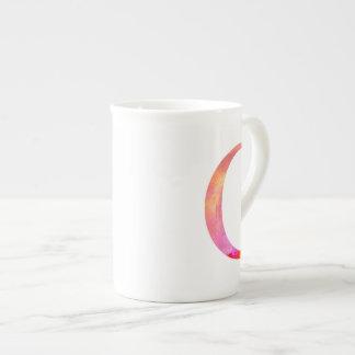 手紙Cのイニシャル-虹の手塗りの詳細 ボーンチャイナカップ