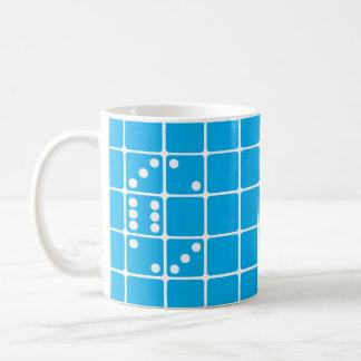 手紙Cのサイコロ コーヒーマグカップ