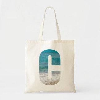 手紙Cのビーチ場面 トートバッグ