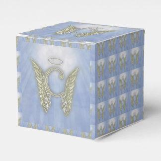 手紙Cの天使のモノグラム フェイバーボックス
