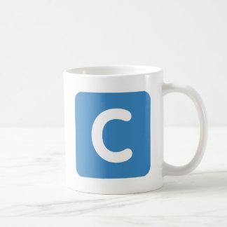 手紙CのemojiのTwitter コーヒーマグカップ