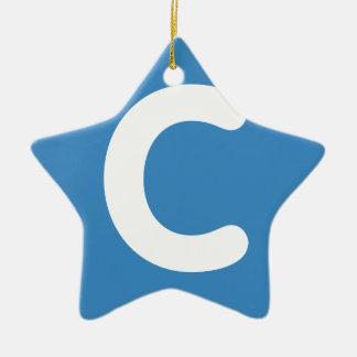 手紙CのemojiのTwitter セラミックオーナメント