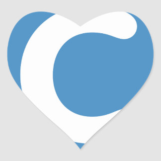手紙CのemojiのTwitter ハートシール