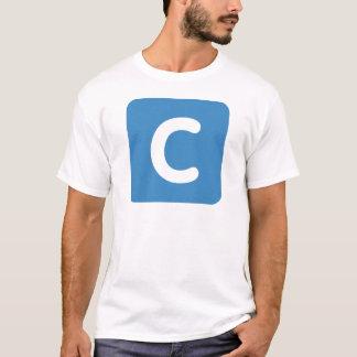 手紙CのemojiのTwitter Tシャツ