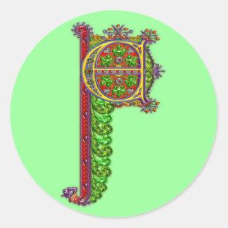 手紙Cシンデレラの装飾用のプリント ラウンドシール