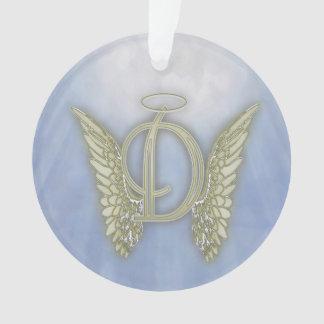 手紙Dの天使のモノグラム オーナメント