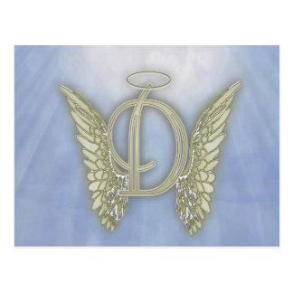 手紙Dの天使のモノグラム ポストカード