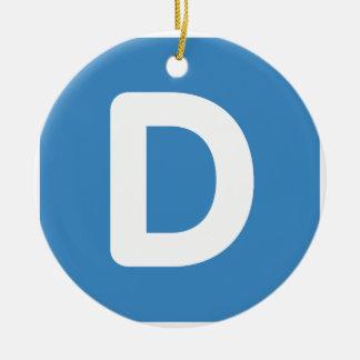 手紙D - emojiのTwitter セラミックオーナメント
