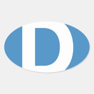手紙D - emojiのTwitter 楕円形シール