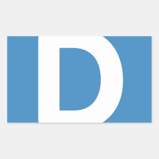 手紙D - emojiのTwitter 長方形シール