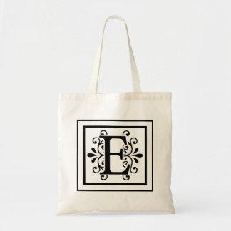 手紙Eのモノグラムのトートバック トートバッグ