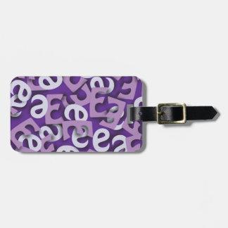 手紙Eの紫色 ラゲッジタグ