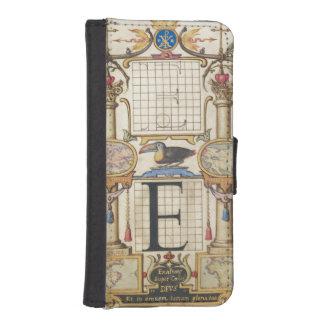 手紙Eを組み立てるためのガイド iPhoneSE/5/5sウォレットケース