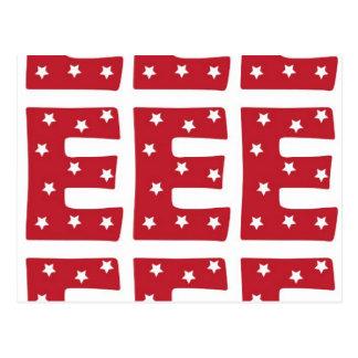 手紙E -えんじ色の白い星 ポストカード