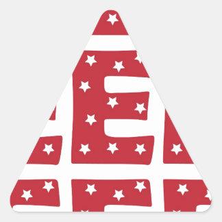 手紙E -えんじ色の白い星 三角形シール