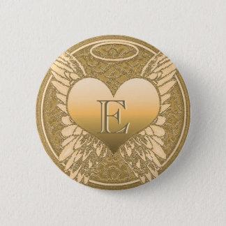 手紙E |の記念物|の天使のハート 缶バッジ