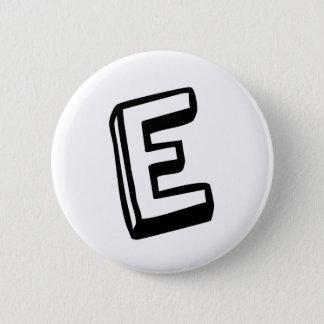 手紙E 5.7CM 丸型バッジ