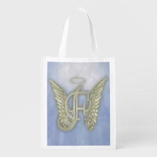 手紙Fの天使のモノグラム エコバッグ