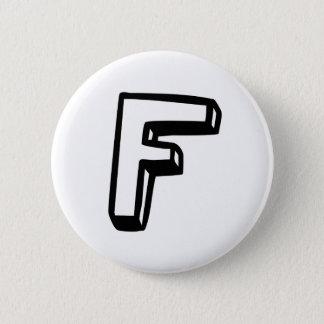 手紙F 5.7CM 丸型バッジ