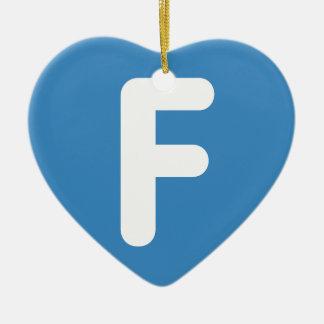 手紙F - emojiのTwitter セラミックオーナメント