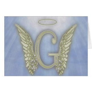 手紙Gの天使のモノグラム カード