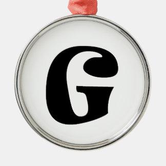 手紙G_large メタルオーナメント