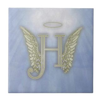 手紙Hの天使のモノグラム タイル